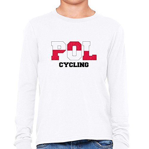 Poland Cycling - Olympic Games - Rio - Flag Boy's Long Sleeve T-Shirt (Brother 8610 compare prices)