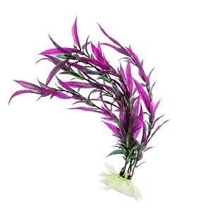 Jardin Bamboo Leaves Water Plants for Aquarium, Dark Green/Purple