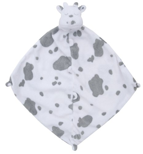 Angel Dear Blankie, White Cow with Grey Spots