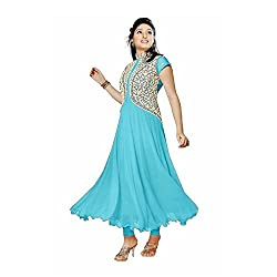 Mahi Fashion Girls's Latest Designer Embroidered Salwar Suit Material with Dupatta