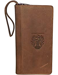Style98 Leather Travel Document Holder,Card Holder & Chequebook Holder For 3 Passports