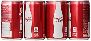 Coca-Cola Classic Soda 7.5oz Mini Cans 3/8 Packs (24 Cans) Coke