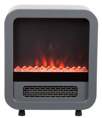 Silver Skyline Electric Fireplace Stove Silver Skyline Electric Fireplace Stove