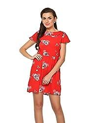 Estellin Floral Print Shift Dress (Large)
