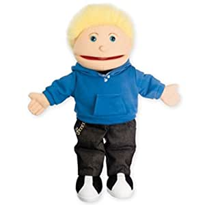 The Puppet Company - Puppet Buddies - Small Boy - Light Skin Tone Hand Puppet