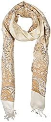 Pashmina Collections Women's Stole (V5007f, Off White)