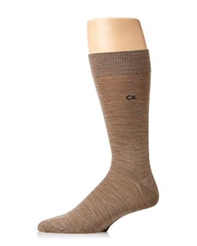 Calvin Klein Men's Wool Flat Knit Crew Sock