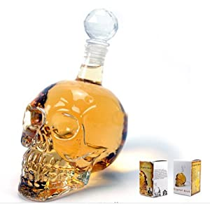 S&S® Fantastic Crystal Design Head Vodka Skull Face Bone Glass Bottle Decanter Empty Bar Line 350ML by Tools & Home Improvement CO.,LTD