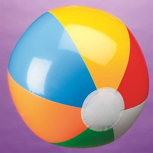"One 12"" Classic Design Inflatable Beach Ball"