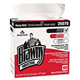 "Brawny Industrial GEP25070 Heavy Duty Shop Towels Cloth 9-1/8 x 16-1/2"" 100/Box, White"