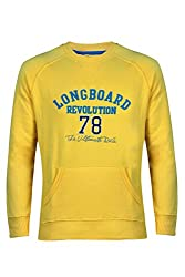 UV&W Full Sleeve Round Neck Gold Sweatshirt