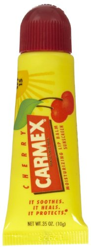 Carmex Cherry Flavor Moisturizing Lip Balm Tube SPF 15