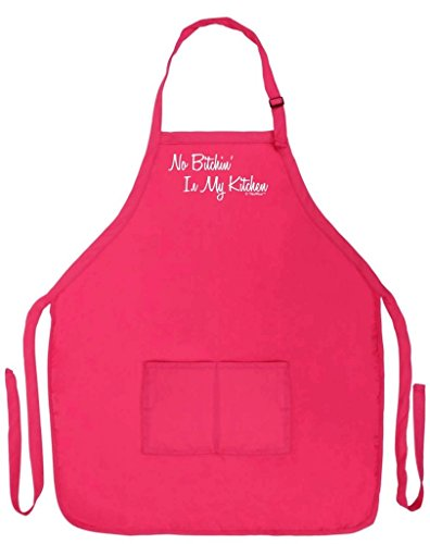 No Bitchin' in My Kitchen Funny Apron for Kitchen BBQ Barbecue Cooking Baking Two Pocket Apron for Baker Cook Pastry Chef Culinary Arts Heliconia (Baking Cooking Charms compare prices)