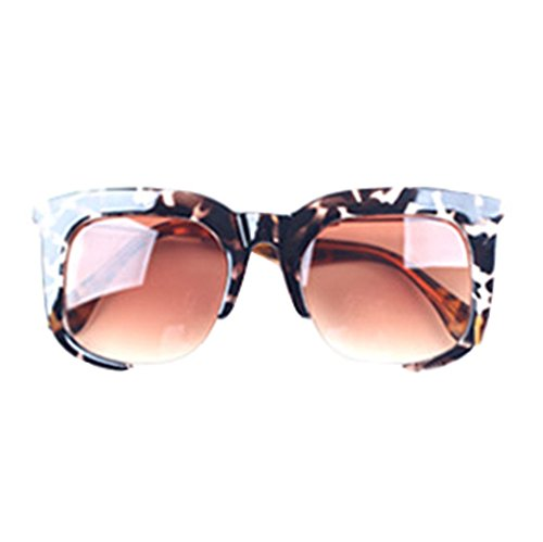 GUGGE Unisex Large Square Frame Sunglasses UV Protection(C2)