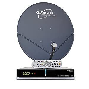 FTA Complete Glorystar Satellite One Room DVR System - Free to Air Television