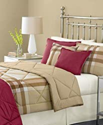 Martha Stewart Collection Bedding, Essentials Solid Standard Sham Burgundy/ Khaki