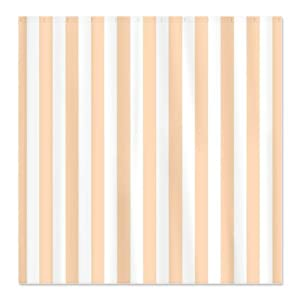 Amazon CafePress Peach Striped Shower Curtain