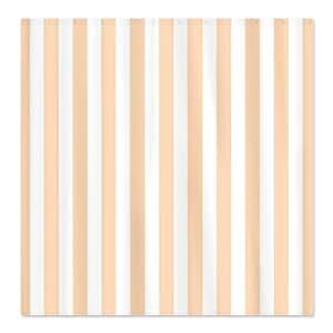 CafePress Peach Striped Shower Curtain Standard White Home Am