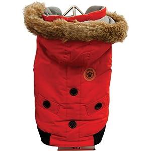 FouFou Dog Canada Fouse Dog Coat, Red, Medium
