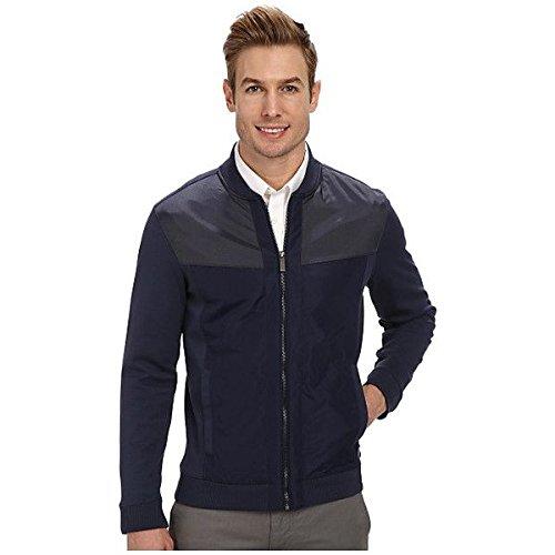 (カルバンクライン) Calvin Klein メンズ アウター ジャケット Full Zip Solid Ponte with Nylon Sweatshirt 並行輸入品