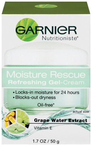 Garnier Moisture Rescue Refreshing Gel-Cream, Grape Water Extract, Vitamin E,  1.70-Fluid Ounce