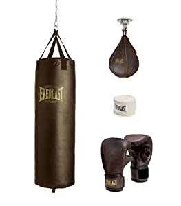 Buy Everlast Vintage Boxing Training Kit (Brown, 70-Pounds) by Everlast