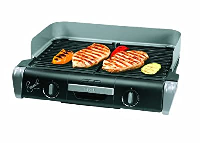 Emeril by T-fal TG8000 XL Griller with Two Independent Temperature Controls, Silver by Emeril Cookware
