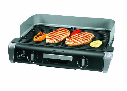 Emeril by T-fal TG8000 XL Griller with Two Independent Temperature Controls, Silver (T Fal Electric Griddle compare prices)