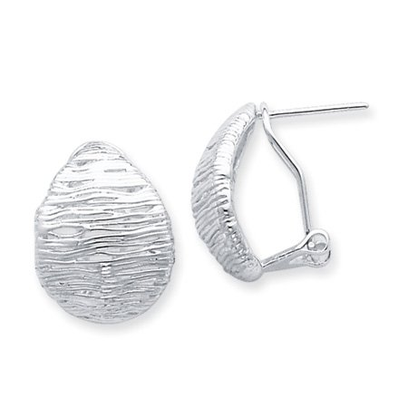 Silver Web Button Earrings - 20mm
