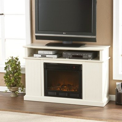 Cheap Julian 48″ TV Stand with Electric Fireplace in Ivory (CSN8239E)