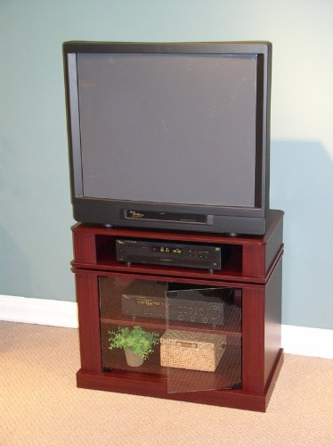 Cherry Finish Swivel Top Entertainment TV Stand