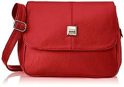 Fostelo Women's Sling Bag (Red) (Fsb-307)