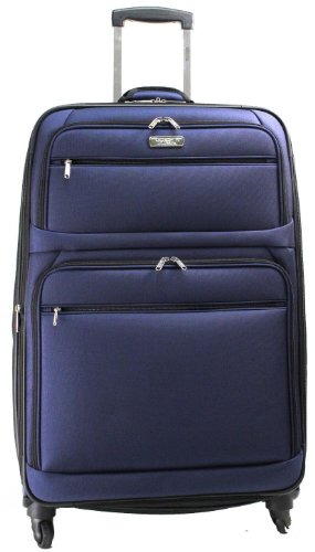 Kenneth Cole Reaction Luggage Switching Lane Suitcase, Black, Large