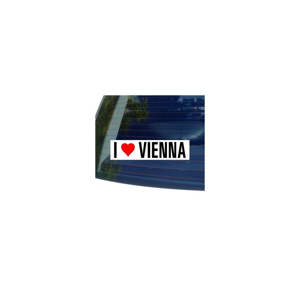 I Love Heart VIENNA Window Bumper Sticker