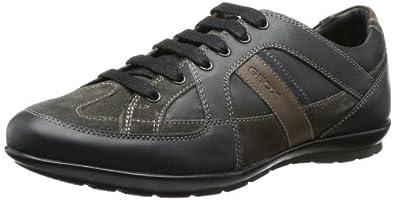 Geox U SYMBOL A U34A5A04322C9355, Herren Sneaker, Schwarz (BLACK/MUD C9355), EU 44