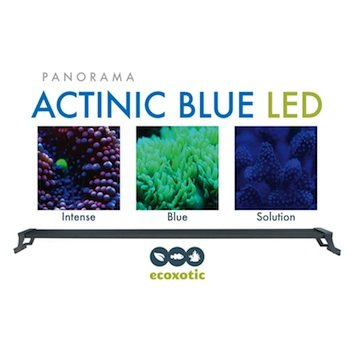 Ecoxotic Panorama 35-Watt Led Aquarium Light Fixture, 36-Inch, Actinic Blue