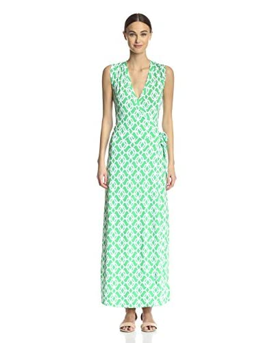 Macbeth Collection Women's Printed Wrap Maxi Dress