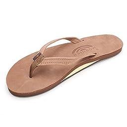 Rainbow Rainbow Sandals Women\'s Premier Leather Single Layer Narrow Dark Brown Size Large / 7.5-8.5 B(M) US