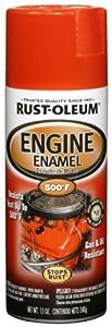 Rust-Oleum 248947 Automotive 12-Ounce 500 Degree Engine Enamel Spray Paint, Chevy Red Orange