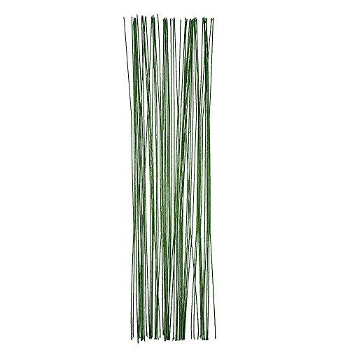eBoot 50 Pieces Stem Wire 20 Gauge 14 Inch, Dark Green (Stem Wire compare prices)