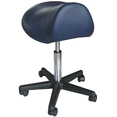 Sivan Health and Fitness Pneumatic Rolling Saddle Massage Stool, Hydraulic Adjustable, Black