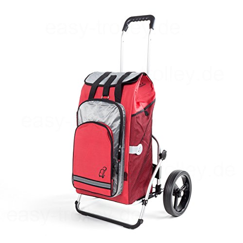 Chariot de courses Royal XXL Edition limitée Hydro rouge , volume 56L, garantie 3 ans, Made in Germany