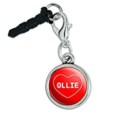 buy Mobile Cell Phone Jack Anti-Dust Charm Fits Iphone I Love Heart Names Male O - Ollie