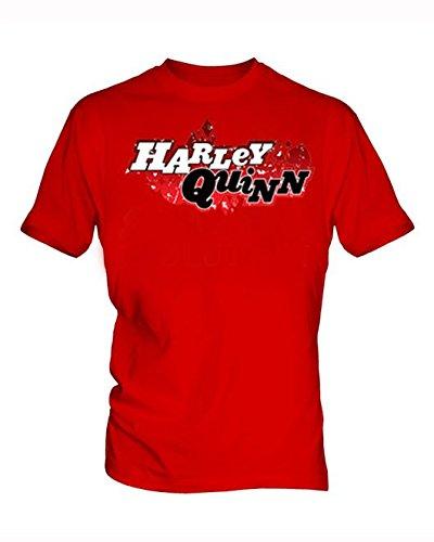 Harley-Quinn-6-hombre-Red-T-Shirt