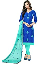 Riya Fashions Women's Cotton Unstitched Dress Material (Pack of 3)(R2008_Multicolor_Free Size)