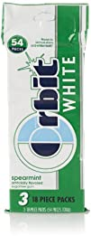 Orbit White Sugar Free Gum, Spearmint…