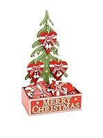 Decoracion Navideña Set Colgante decorativo 24 Uds. Árbol Navidad Corazón
