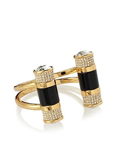 Rachel Zoe Crystal Double Barrel Cuff Bracelet