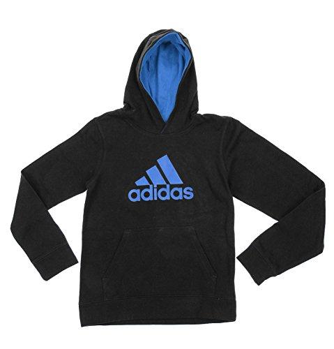 Adidas Big Boys Youth Game Ready Pullover Fleece Hoodie, Black LT Blue