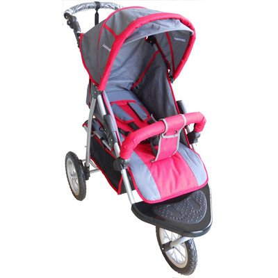 AmorosO-Single-Jogging-Stroller-BlackRed-12